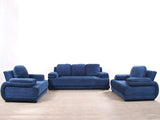 Rosario Five Seater Sofa Set In Blue Color (3+1+1) GMC Standard Sofa FN-GMC-003736