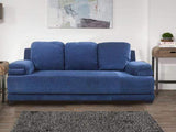 Rosario Three Seater Sofa In Blue Color GMC Standard Sofa FN-GMC-003736