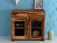 Segur Solid Wood Cabinet in Rustic Teak Finish by Woodsworth GMC Express Storage FN-GMC-008373