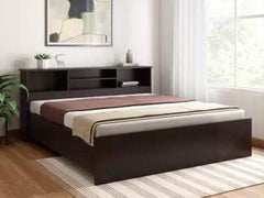 Skyler Engineered Wood Double Bed In Brown By Crystal Furnitech Beds