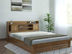 Engineered Wood King Size Hydraulic Bed