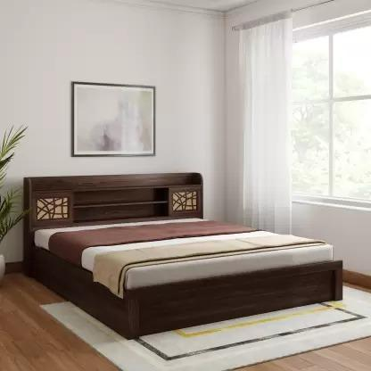 Spacewood Engineered Wood King Size Hydraulic Bed GMC Express Beds