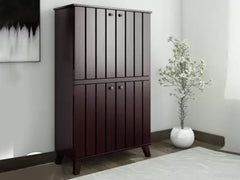 Gayle Four Door Shoe Cabinet in Brown Colour