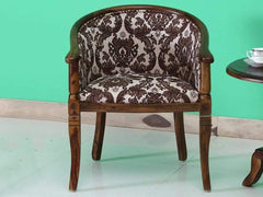 Stalley Solid Wood Armchair Uphosltery in Provincial Teak Finish by Amberville GMC Express Chair FN-GMC-008371
