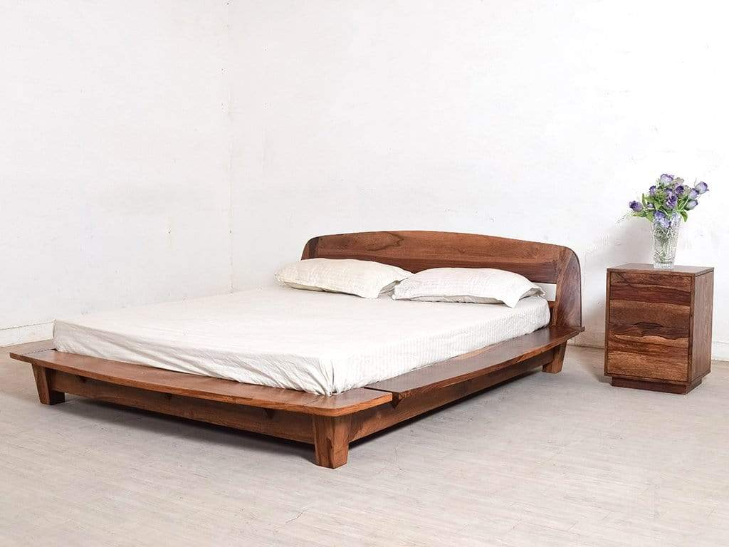 Picture of: Tahiti Platform Queen Bed In Teak Finish By Urban Ladder Getmycouch