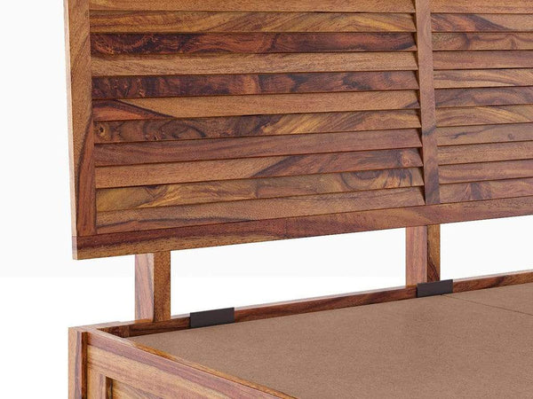 Terence Hydraulic Storage Bed in Teak Finish By Urban Ladder GMC Express Bed FN-GMC-008535