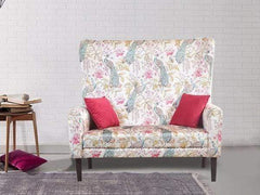 Valdemar Loveseat in Peacock Floral Print GMC Express Sofa FN-GMC-005038