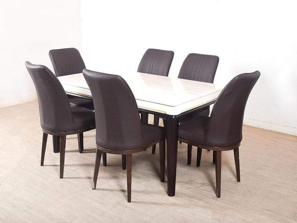 Venice Marbel Top Dining Table Leatherette Chair GMC STANDARD Table FN-GMC-004561