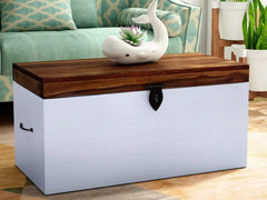 Verona Solid Wood Trunk in Distress Finish by Bohemiana GMC Express Storage FN-GMC-008379