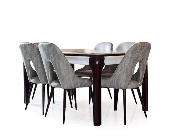 Viona Six Seater Marble Dining Table Table