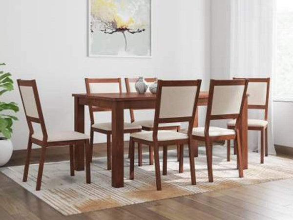 Vivian Solid Wood 6 Seater Dining Set GMC Express Table FN-GMC-008100