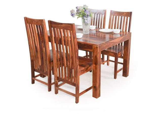 Volta Four Seater Dining Set In Teak Finish GMC Express Table FN-GMC-006238