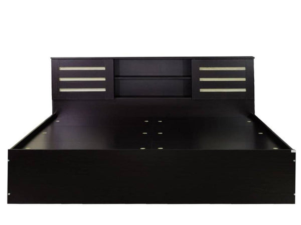 Walter Double Bed With Box Storage In Dark Brown Beds