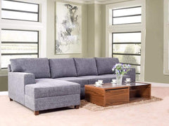 Walter LHS Sectional Sofa In Grey Fabric GMC Standard Sofa FN-GMC-003541
