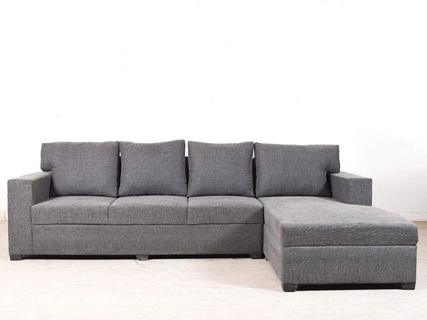 Walter RHS Sectional Sofa In Grey Fabric GMC Standard Sofa FN-GMC-004469