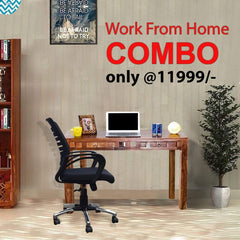 Weave Study Table + Hailey Office Chair (Combo Offer) GMC Express Chair FN-GMC-008552