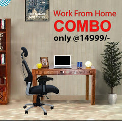 Weave Study Table +Matrix Executive Chair (Combo Offer) GMC Express Chair FN-GMC-008551