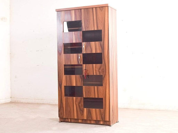 Wesley Display Cabinet Cum Bookshelf In Light Oak Finish GMC Standard Storage FN-GMC-005904