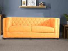 Windsor Three Seater Sofa In Premium Yellow Casa Bonita Fabric GMC Standard Sofa FN-GMC-006081