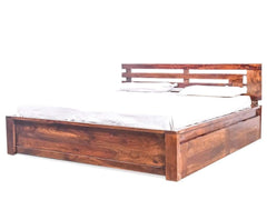 Woodinville King Bed with Storage in Provincial Teak Finish By Woodsworth GMC Express Beds FN-GMC-002597