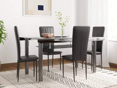 Woodness Metal 4 Seater Dining Set GMC Standard Table FN-GMC-006384