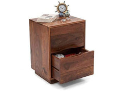 Zephyr Bedside Table In Teak Finish By Urban Ladder GMC Express bed side table FN-GMC-007456