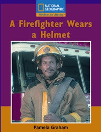A Firefighter Wears a Helmet