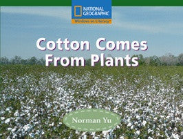 Cotton Comes From Plants