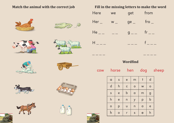 Farm Animals Have Jobs Pack
