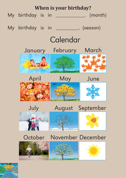 Seasons Activity Sheets