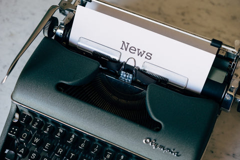 typewriter typing news of Green Buffalow Wildland gear