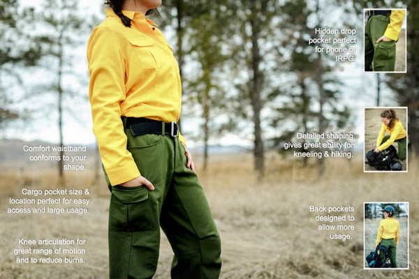 Detailed specification best fitting wildland fire pant
