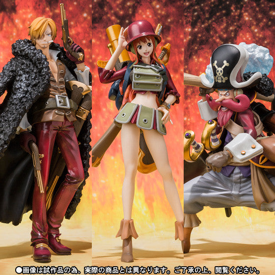 Figuarts ZERO: One Piece Film Z (Sanji Nami Usopp) Set [Tamashii Web Shop Exclusive]