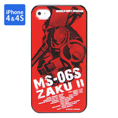 Mobile Suit Gundam Char's Zaku Iphone 4 & 4s Cover [P-Bandai Exclusive]