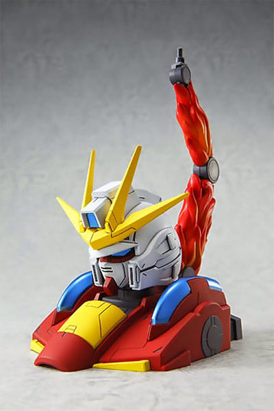 Dengeki Hobby (Jan 2015 Issue) w/ 1/48 Scale Build Burning Gundam Head Display Stand