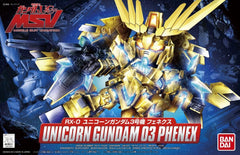SD BB Senshi Unicorn Gundam 03 Phenex