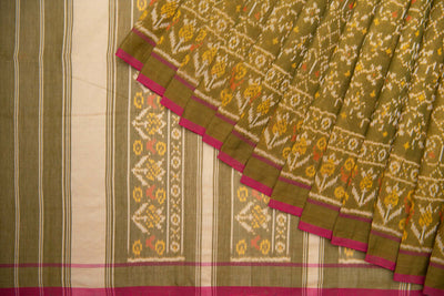 Cotton Tissue Patola Saree - www.artisansaga.com