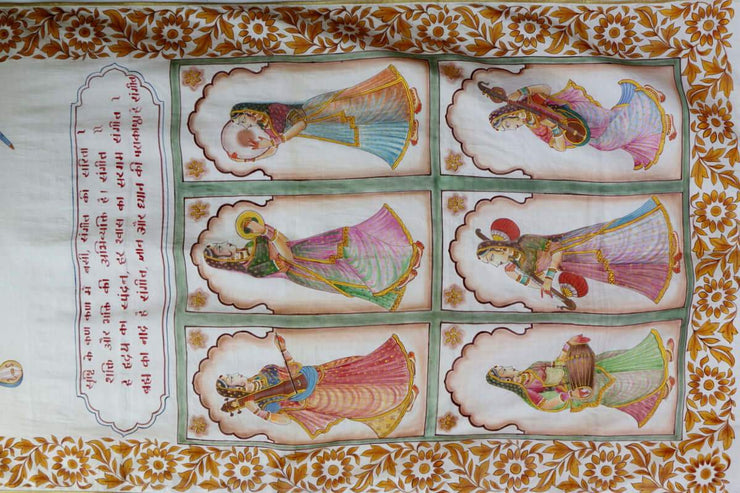 Hand Painted Sarees-The Raaginis