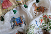 Hand Painted Sarees-The Royal Procession