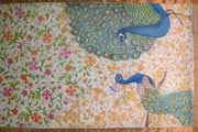 Hand Painted Sarees-Twin Peacocks