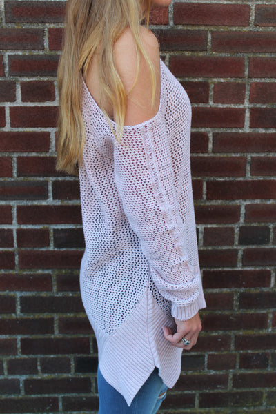 Willow & Clay Cold Shoulder Sweater