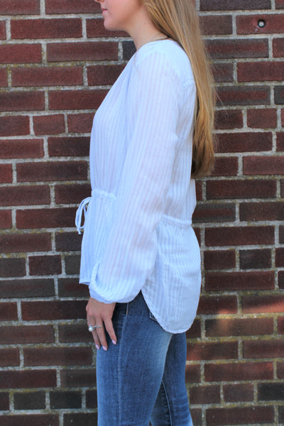 Bella Dahl Tie Waist Button Down