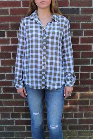 Bella Dahl Fray Hem Side Button Shirt