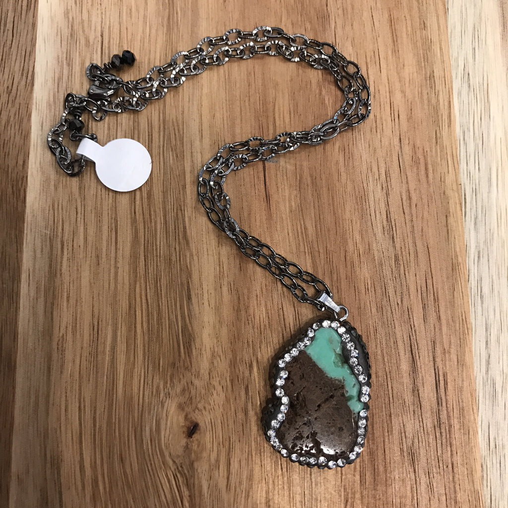 Jillery Pave Agate Necklace