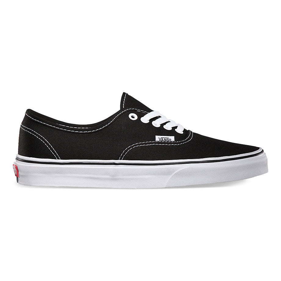 470f8150130a76 Vans Unisex Authentic Solid Canvas Skateboard Sneakers Black – ValueMaxx