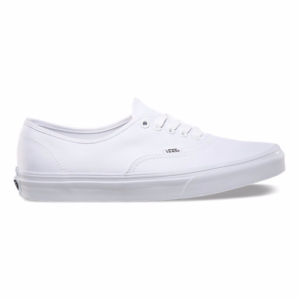 1e86761c976093 Vans Unisex Authentic Solid Canvas Skateboard Sneakers White – ValueMaxx