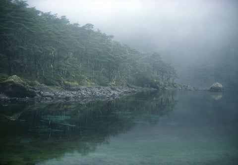 Blue Lake in the Mist