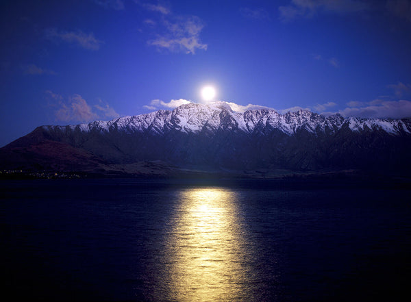 Moon over Lake Wakatipu
