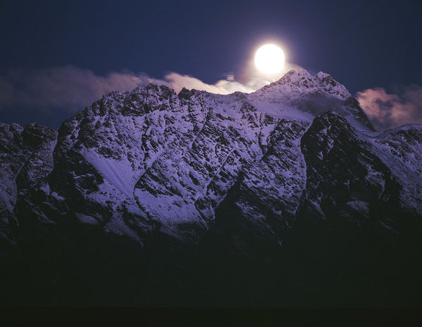 Moon over Remarkables