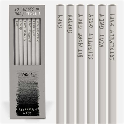 50 Shades of Grey 6 Pkt Boxed Pencils